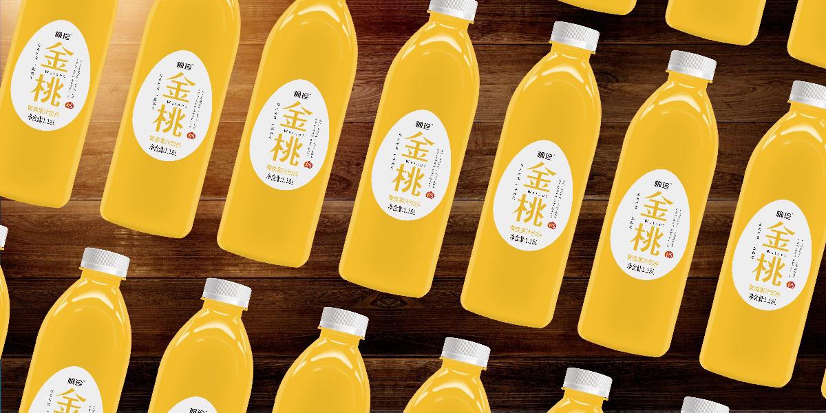 黄桃果汁饮料包装设计 黄桃风味饮料包装设计
