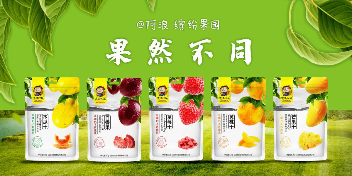 干果脯包装设计 草莓 百香果 木瓜干 黄桃干 木瓜干包装设计