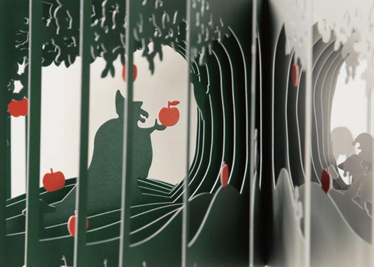 打开Oono创作的书,一层一层地讲述着里面的故事