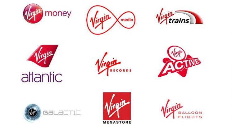 Virgin品牌的红色标志很独特
