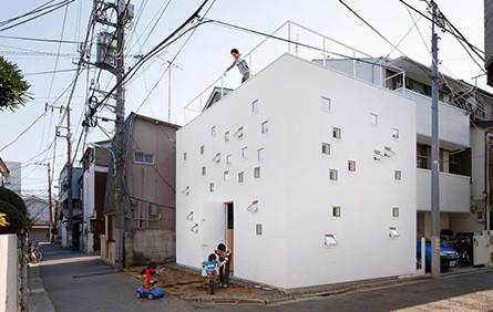 东京镂空小方块房子