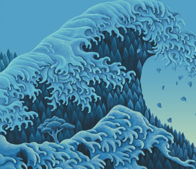 是树叶,还是层叠绵密的浪波?