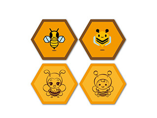 卡通蜜蜂logo設計