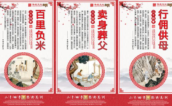 中華孝道文化二十四孝展板