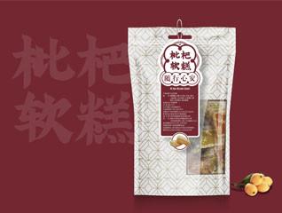 创意枇杷软糕立袋零食包装设计