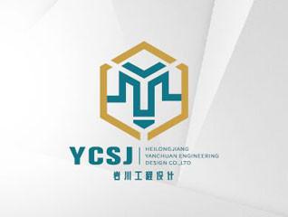簡約巖川工程設計建筑行業logo設計