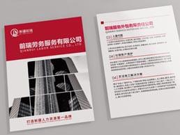 大气人力资源劳务公司画册设计