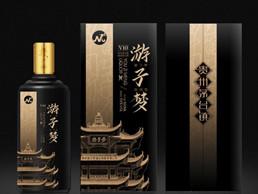 中國風高端游子吟白酒酒水包裝瓶包裝盒設計