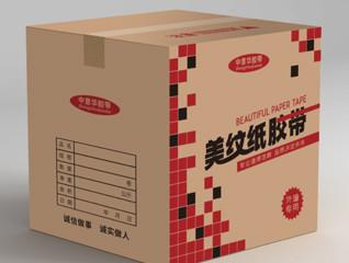 简洁美纹胶带包装纸箱设计