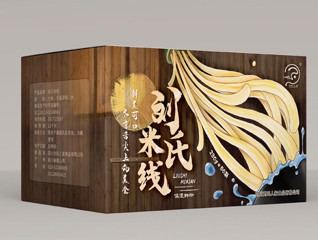 新中式刘氏米线餐饮品牌食品纸箱包装设计