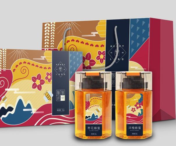 特產 蜂蜜—— 禮盒 瓶貼 手提袋