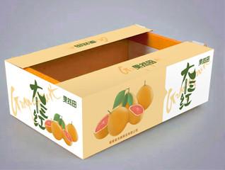 果然田柚子鲜果 水果包装箱设计