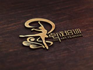卓成培训 艺术教育机构logo设计