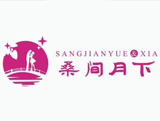 桑间约下 传统新中式酒贴酒品牌标logo贴包装设计