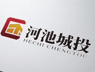 简洁国际范河池城投建筑行业logo设计