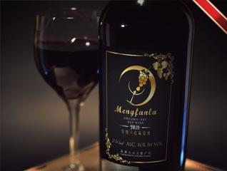 高端红酒梦凡拉瓶贴标签设计