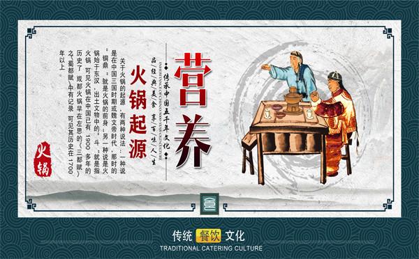 火锅文化《传承中华美食》宣传展板挂画
