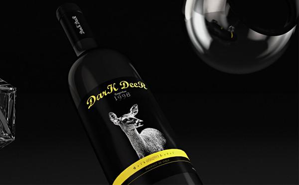 魔美设计原创 · DarK DeeR 红酒包装设计