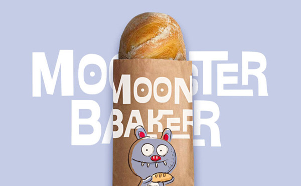 MOONSTER BAKER 面包店品牌設計