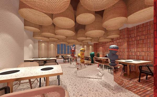 青岛料理店设计-体验身处充满岁月感和现代的美|艺科设计