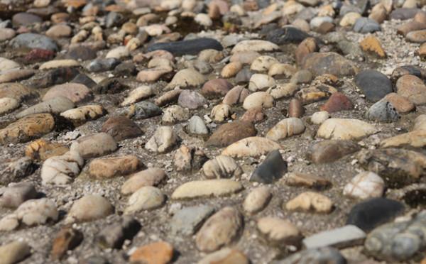 地面上的鵝卵石