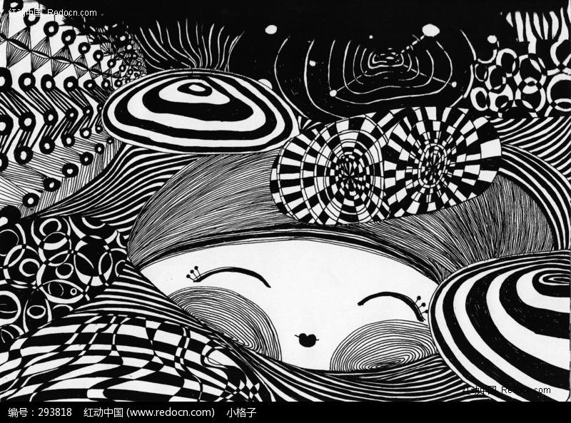 黑白线条画图片