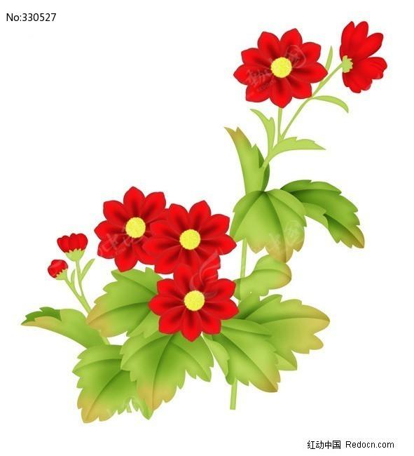 手绘唯美花卉图片