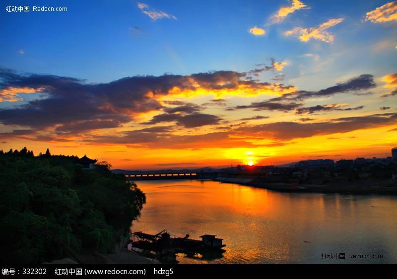 原创摄影图 自然风景 江河湖泊 ?#33529;?#26202;霞风光