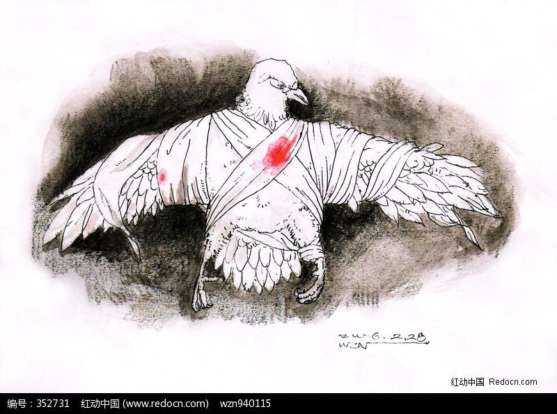 手绘和平鸽高清图片下载 编号352731 红动网图片
