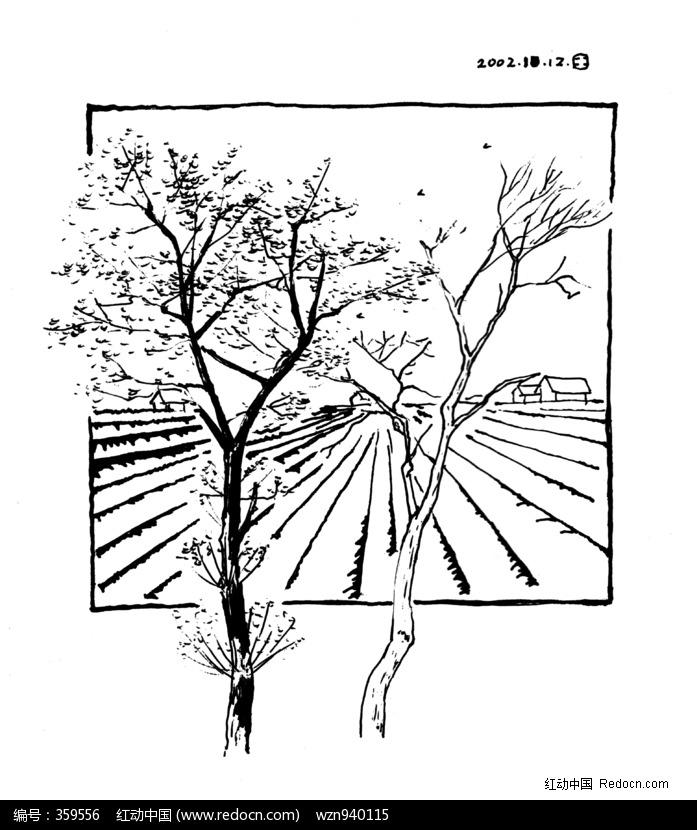 简笔画 手绘 线稿 697