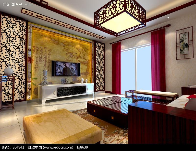中式木雕客厅图片