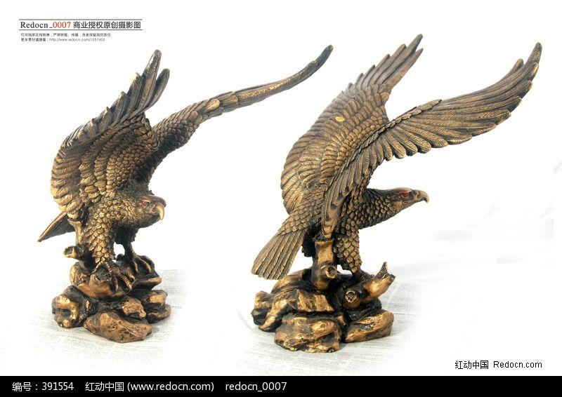 老鹰雕塑图片