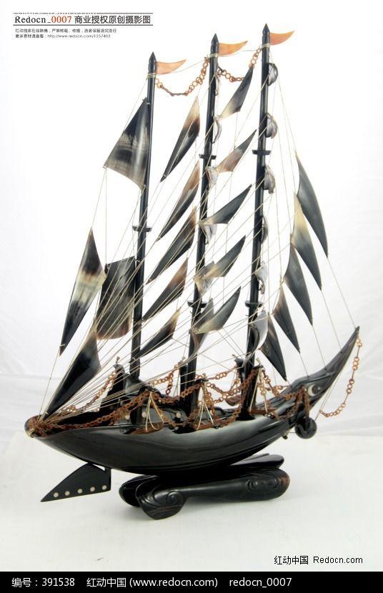 象牙帆船工艺品