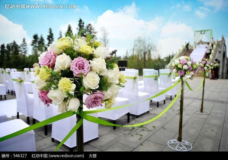 户外西式婚礼图片,高清大图