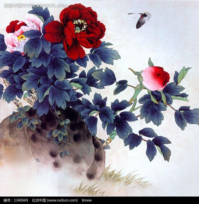 中国画牡丹图片