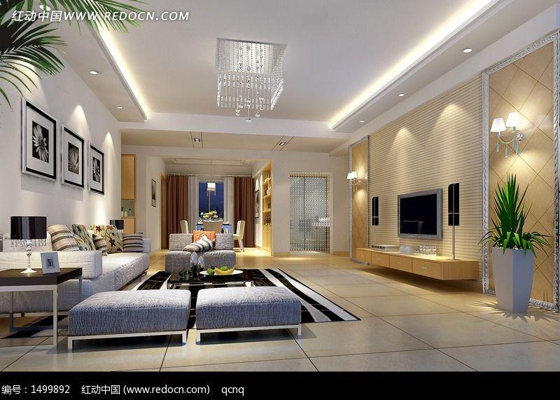 建筑摄影 家庭装潢 室内设计豪华客厅效果图制作  请您分享: 素材描述