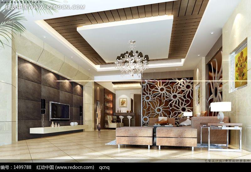 室内设计豪华客厅效果图制作