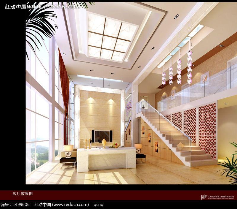 家居设计复式客厅效果图图片