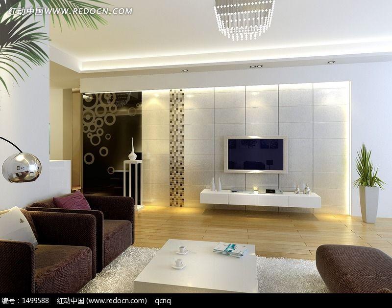 家居设计客厅电视墙效果图设计图片