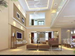 复式家居设计客厅效果图设计