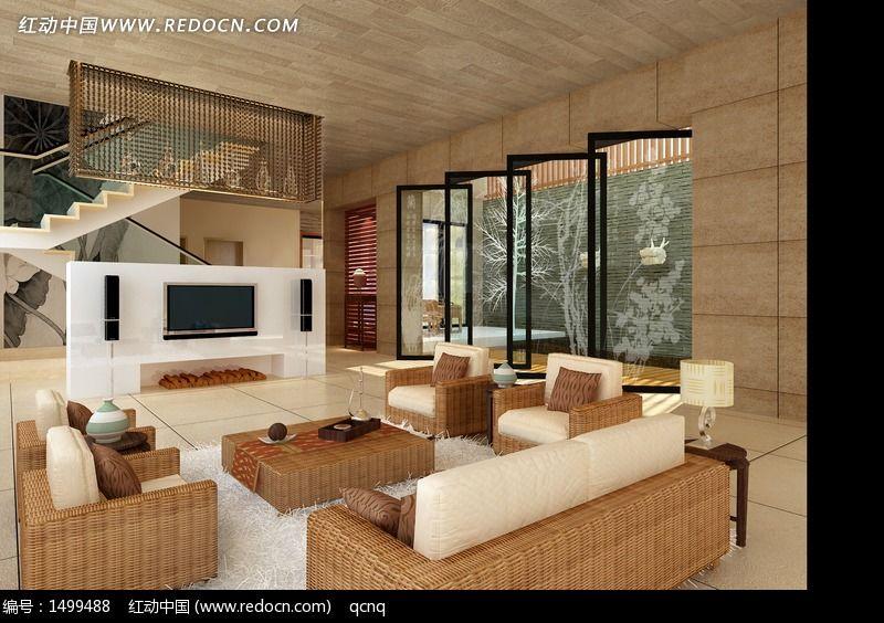 别墅家居设计客厅效果图设计图片