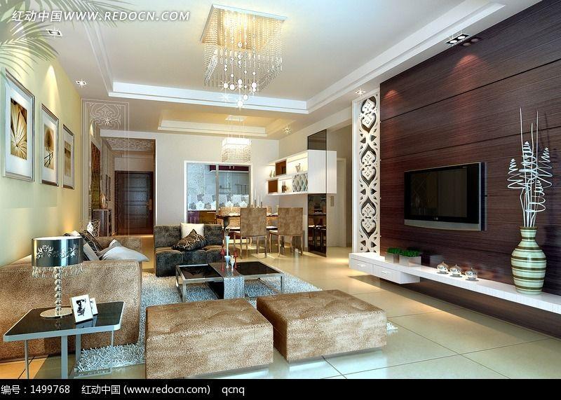 欧式室内设计豪华客厅效果图制作图片