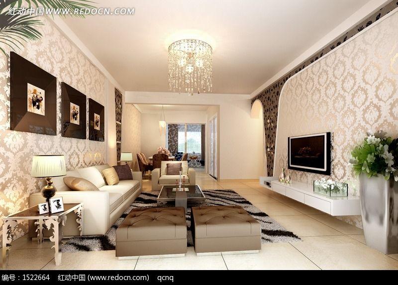 建筑摄影 家庭装潢 室内设计个性客厅效果图  请您分享: 素材描述:红