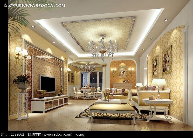 欧式豪华唯美室内设计个性客厅效果图片