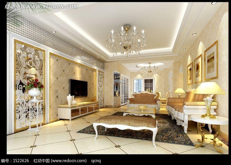 建筑摄影 家庭装潢 豪华客厅室内设计个性客厅效果图  请您分享: 素材