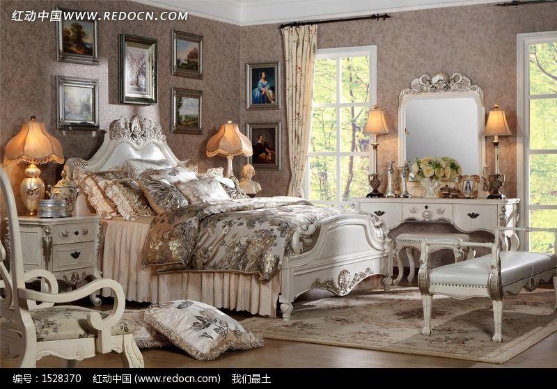 卧房 床 欧式家具