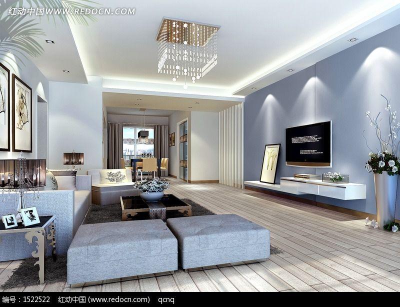 原创摄影图 建筑摄影 家庭装潢 简洁客厅设计效果图  请您分享: 红动