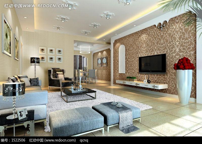 简欧式客厅设计效果图图片,高清大图_家庭装潢素材图片