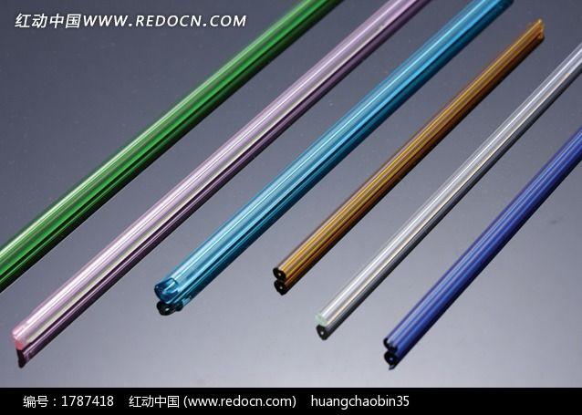 玻璃管 彩色玻璃棒图片