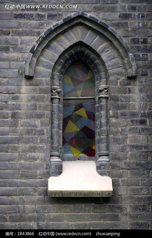 教堂玻璃窗图片,高清大图